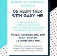 Gary CS Alum Talk Flyer